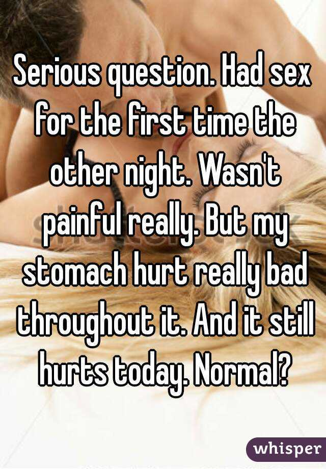 Why does sex still hurt