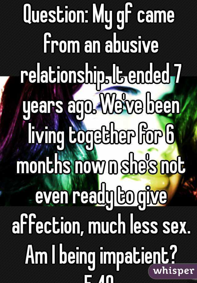 No sex for 6 months in relationship