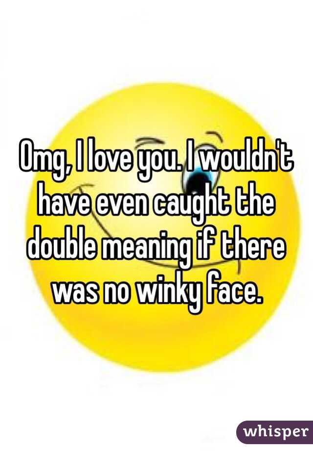 Winky face meaning