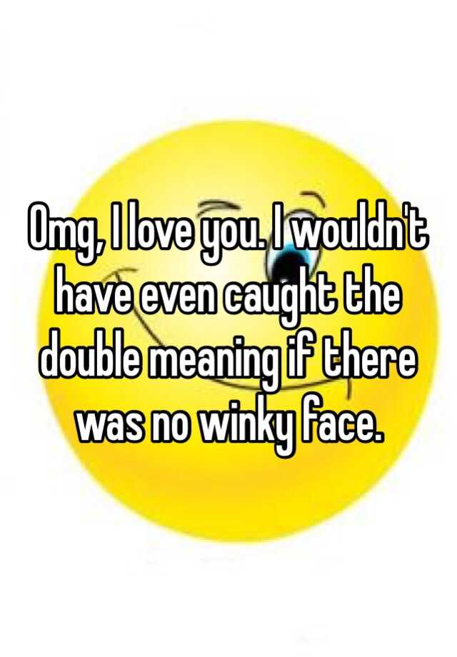 Winky face definition