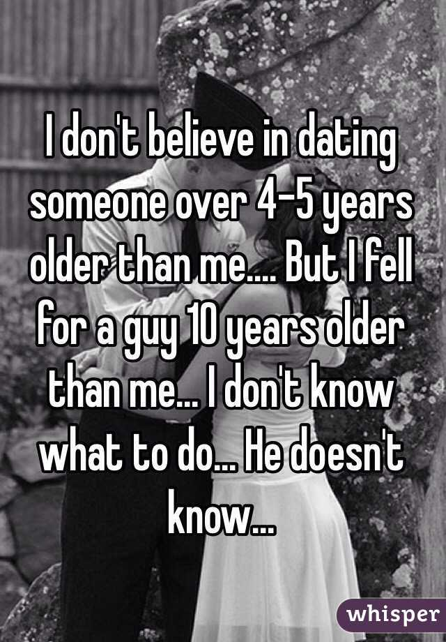 Dating a man five years older