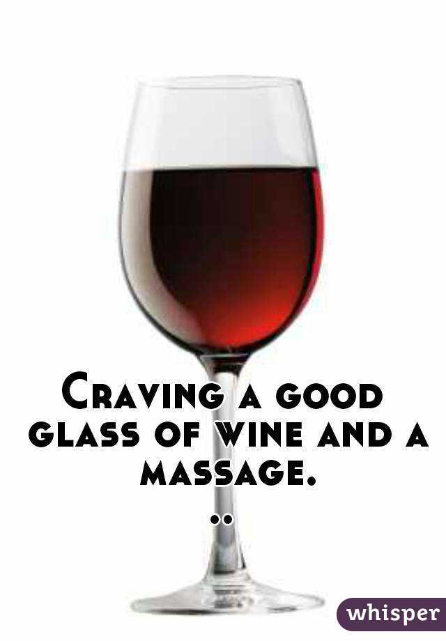Drink Massage From Wine Glass