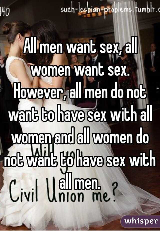 Why women want to have sex
