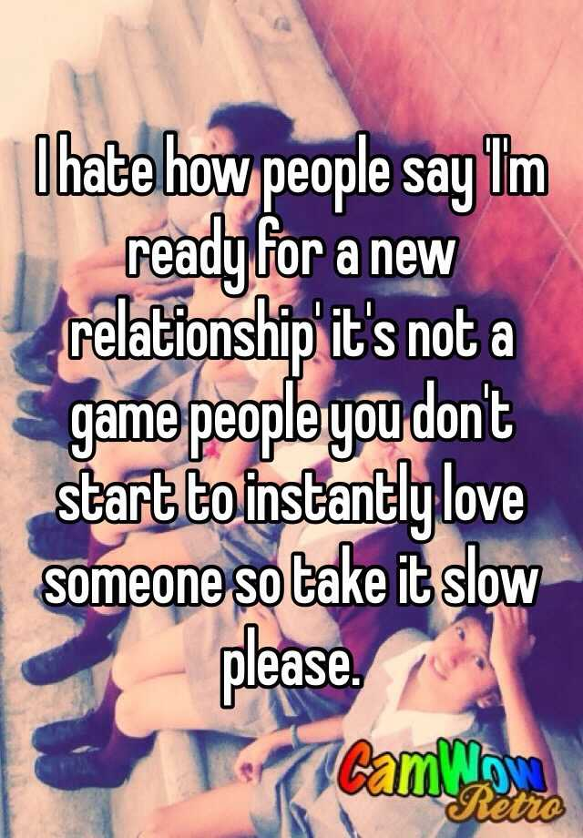taking it slow in a new relationship