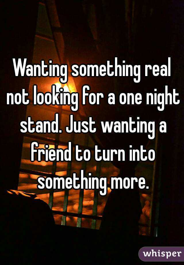 Looking one night stand