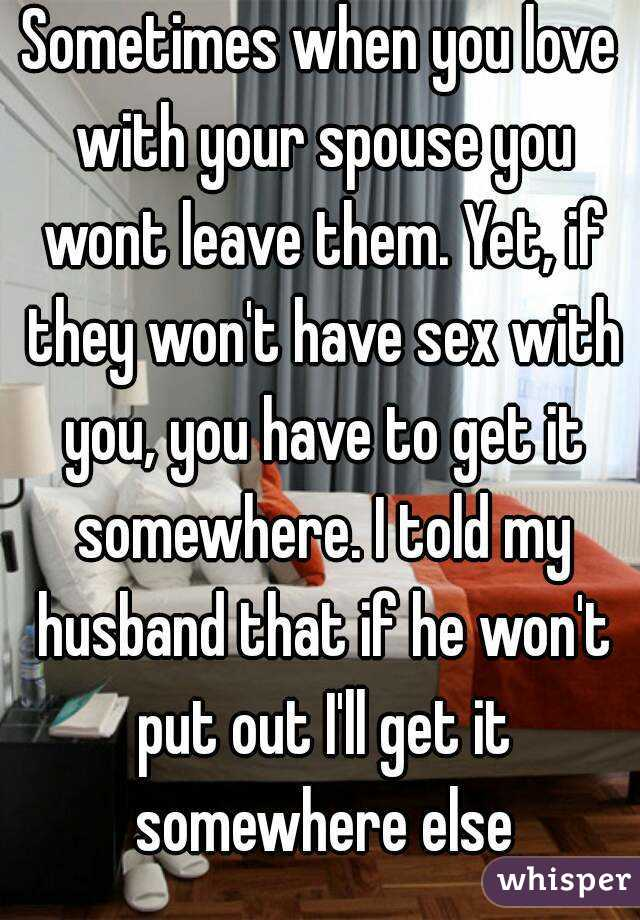 What to do when your wife wont have sex