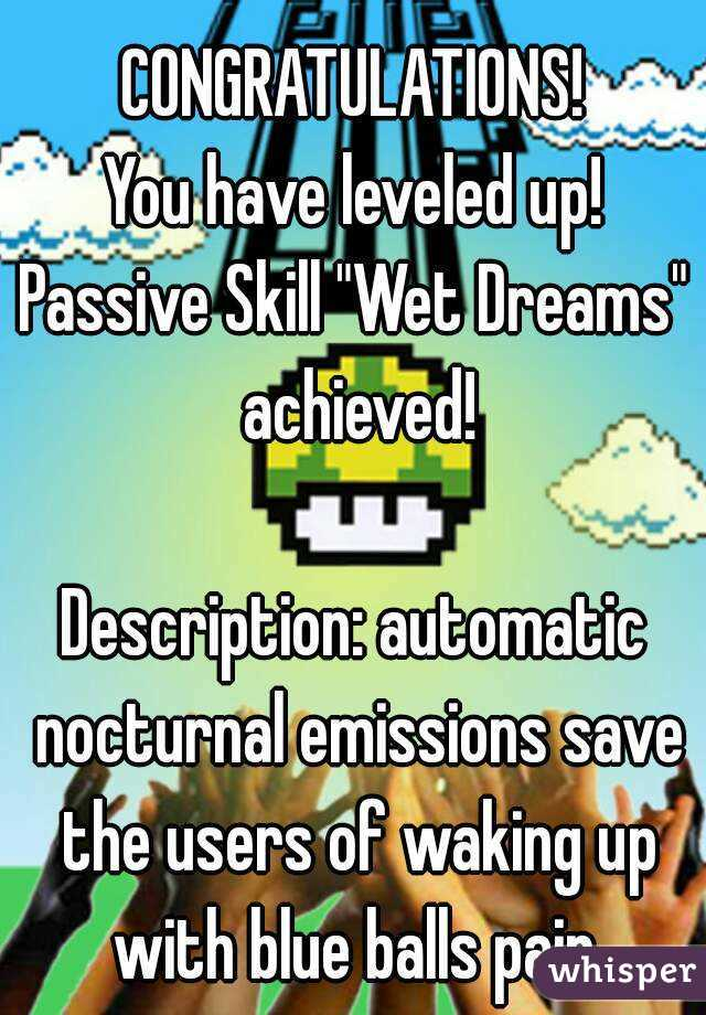 CONGRATULATIONS! You have leveled up! Passive Skill