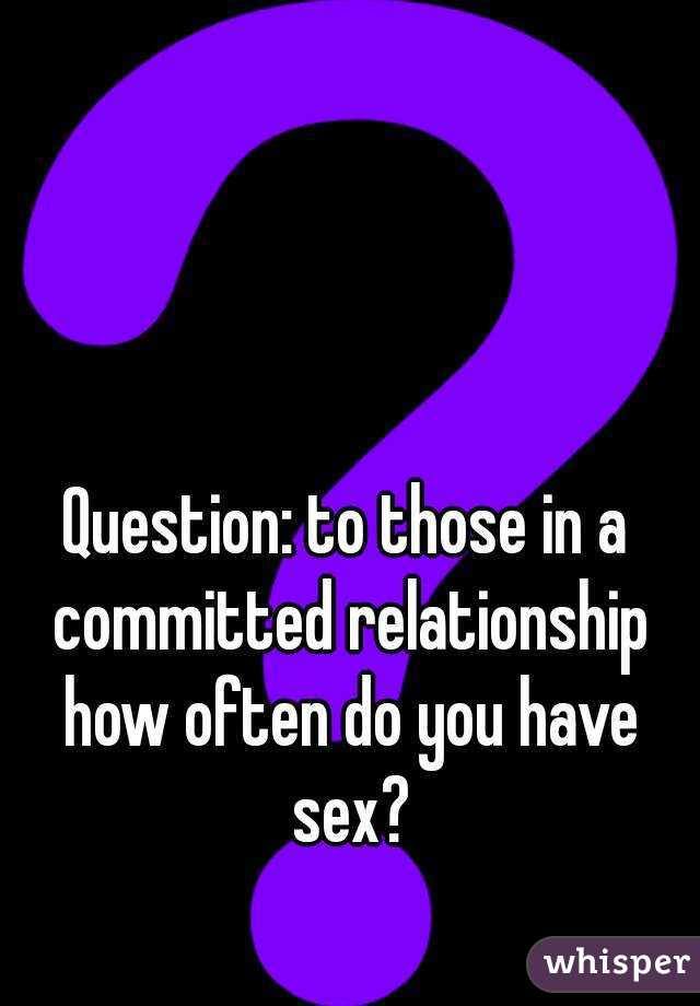 How often we have sex