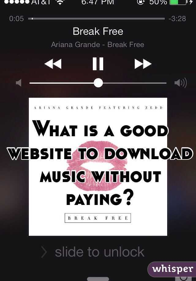 What is a good website to download music without paying?