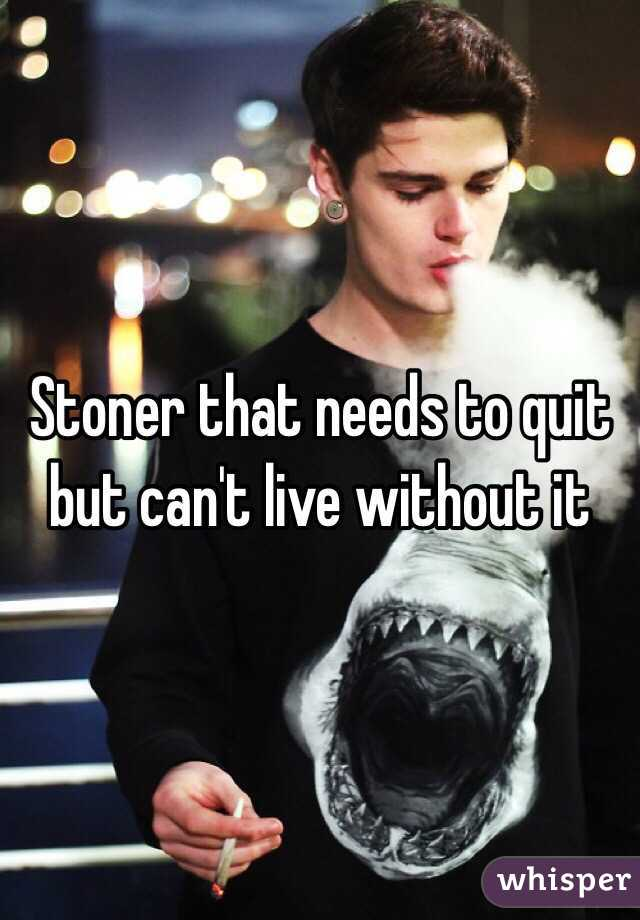 Stoner that needs to quit but can't live without it