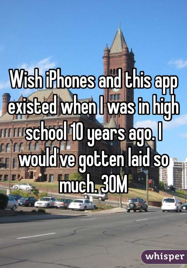 Wish iPhones and this app existed when I was in high school 10 years ago. I would've gotten laid so much. 30M