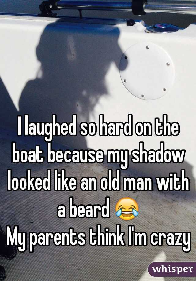 I laughed so hard on the boat because my shadow looked like an old man with a beard 😂 My parents think I'm crazy