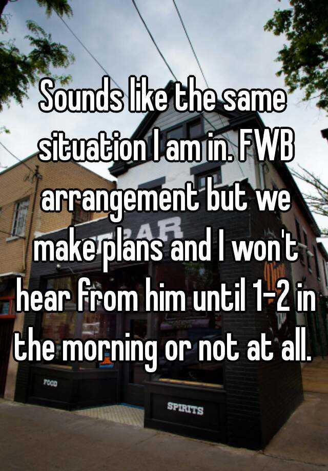 fwb arrangement