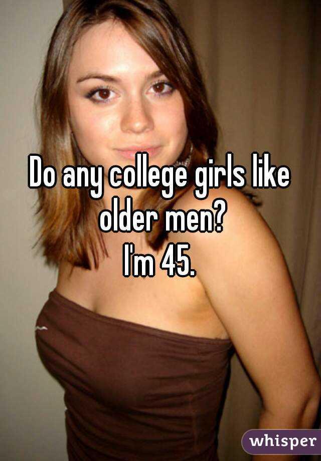 College girls and older men