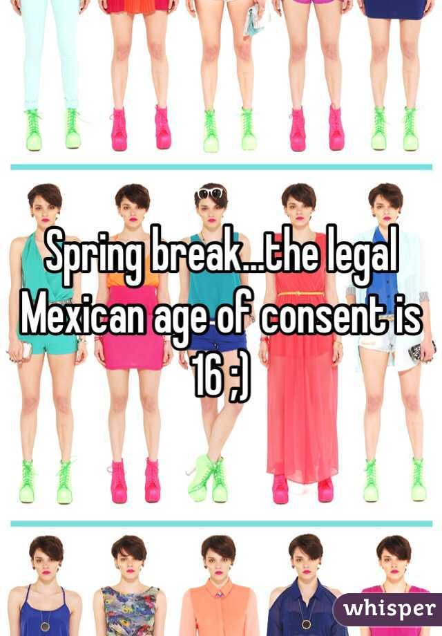 Legal age for sex mexico