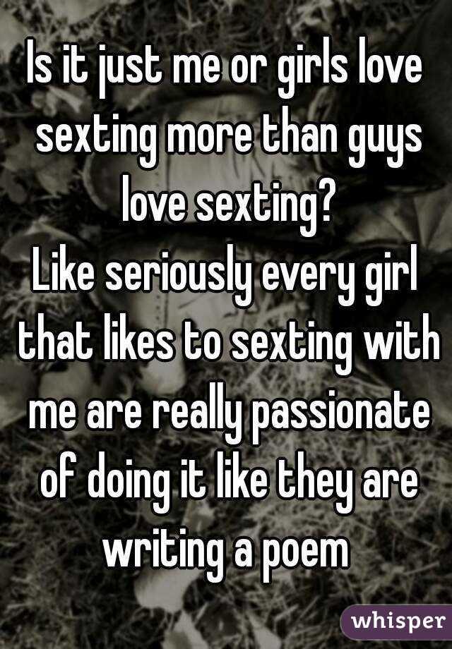 Do girls like sexting