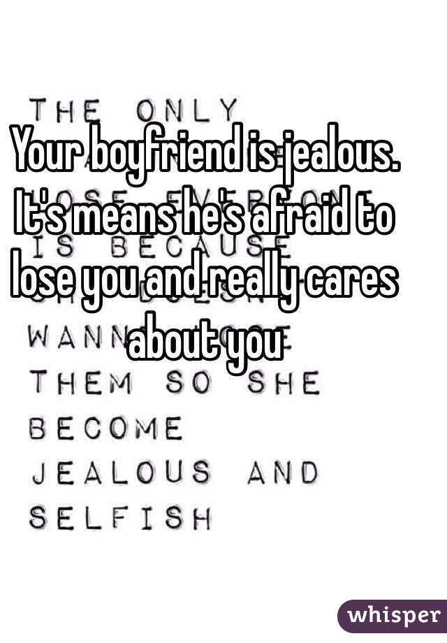 when your boyfriend is jealous