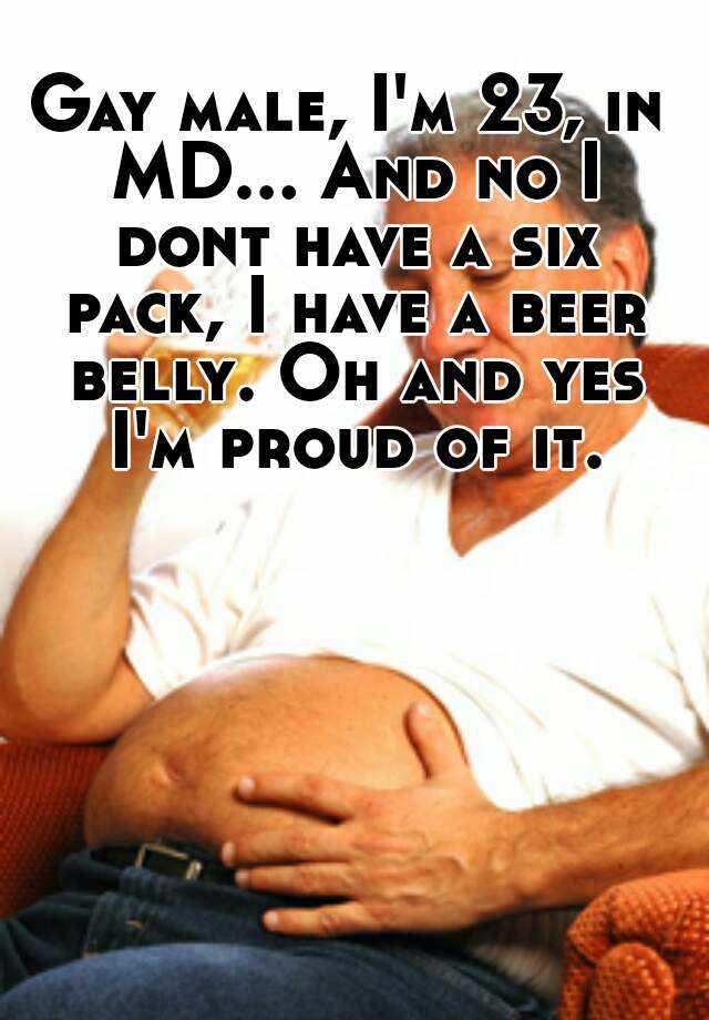 Gay beer belly
