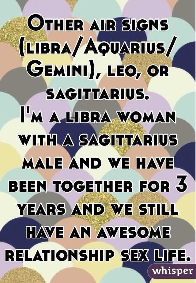 Sagittarius man and libra woman sexually