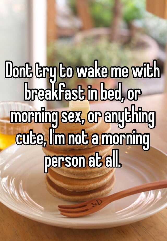 Cute morning sex