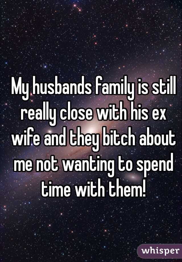 friends with ex wife