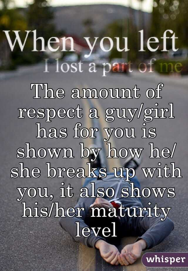 A You With When Girl Breaks Up