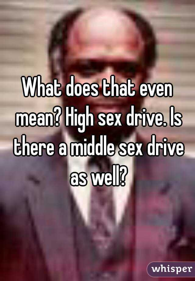 What does sex drive mean