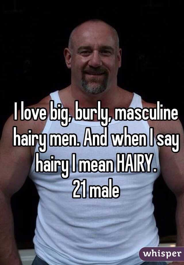 Think, that big and hairy men apologise