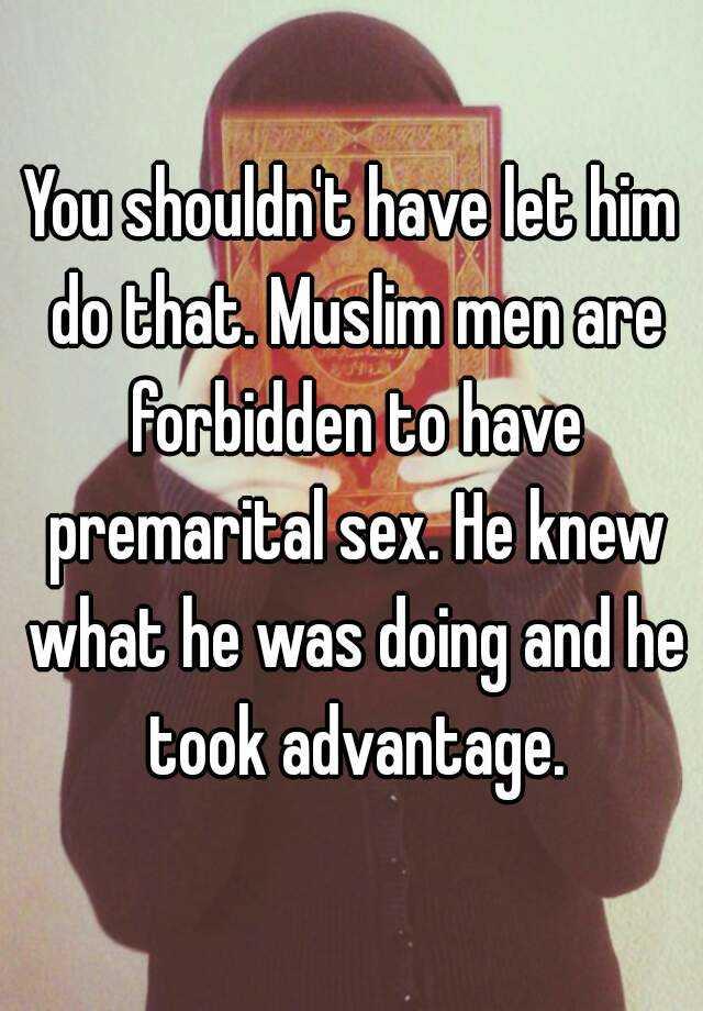 Advantages of premarital sex