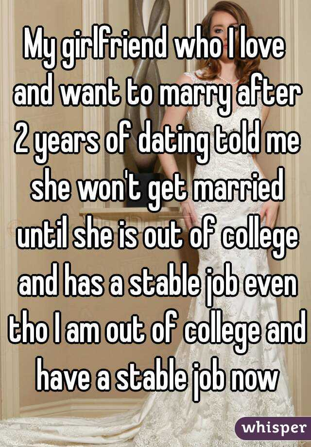 Getting married after 2 years of dating
