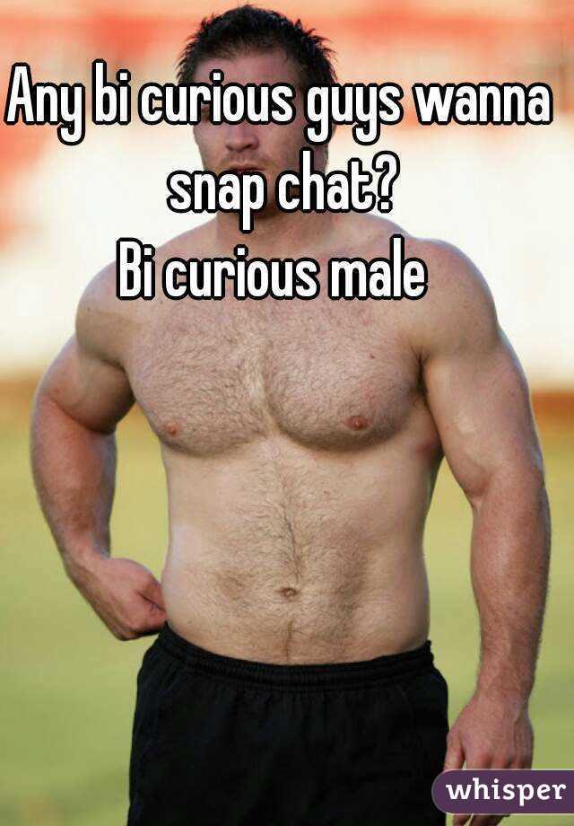Bi curious male chat