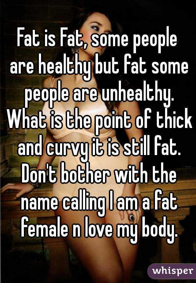 Fat People Name