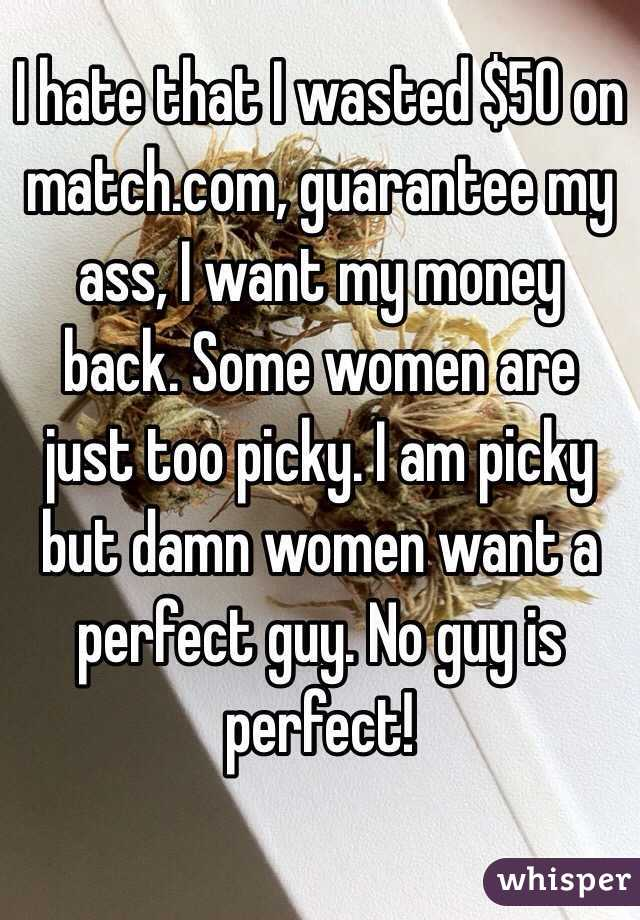 Match com money back guarantee