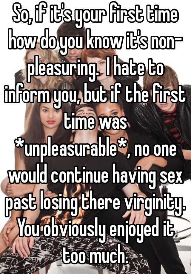 How was your first time having sex