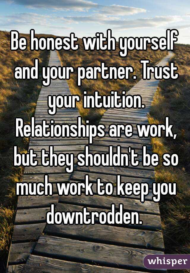 Trusting your intuition in relationships