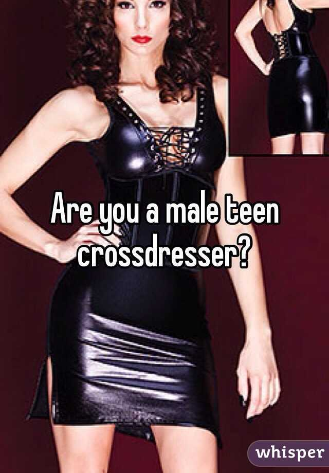Crossdresser on male