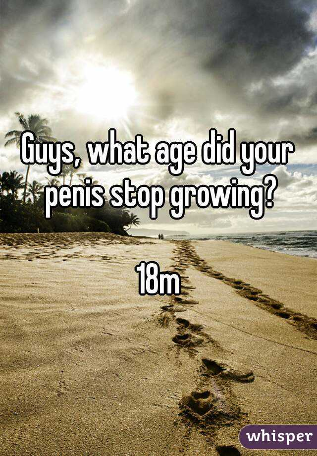 when does your dick stop growing