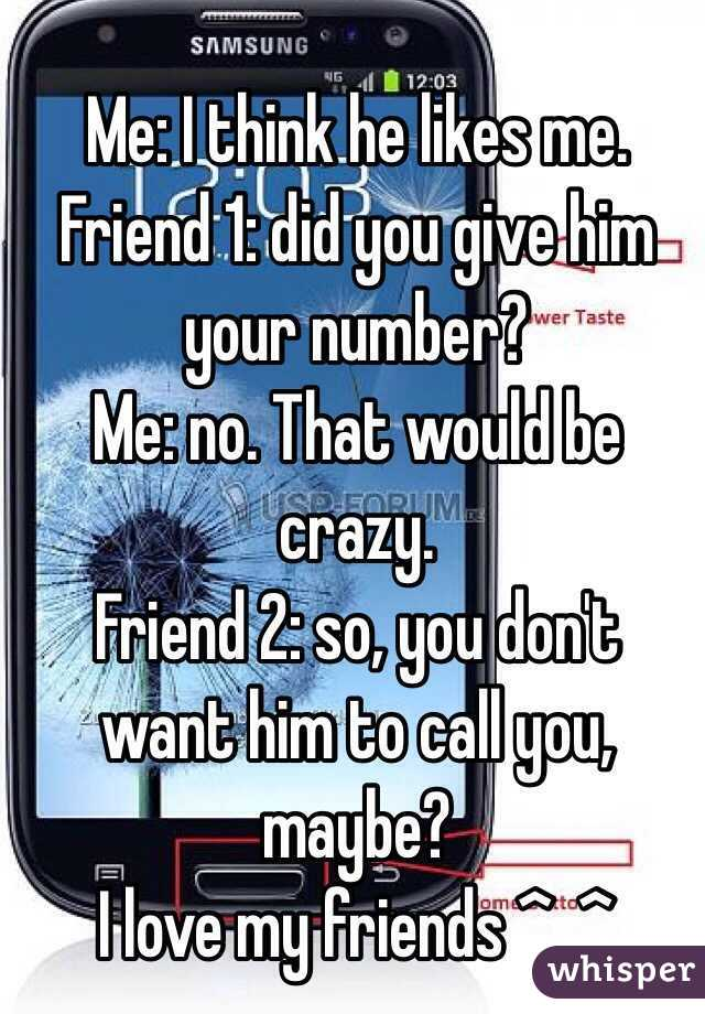give him your number