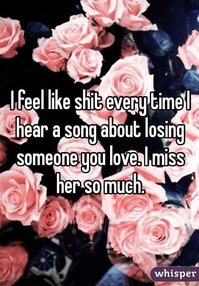 Love songs about losing someone