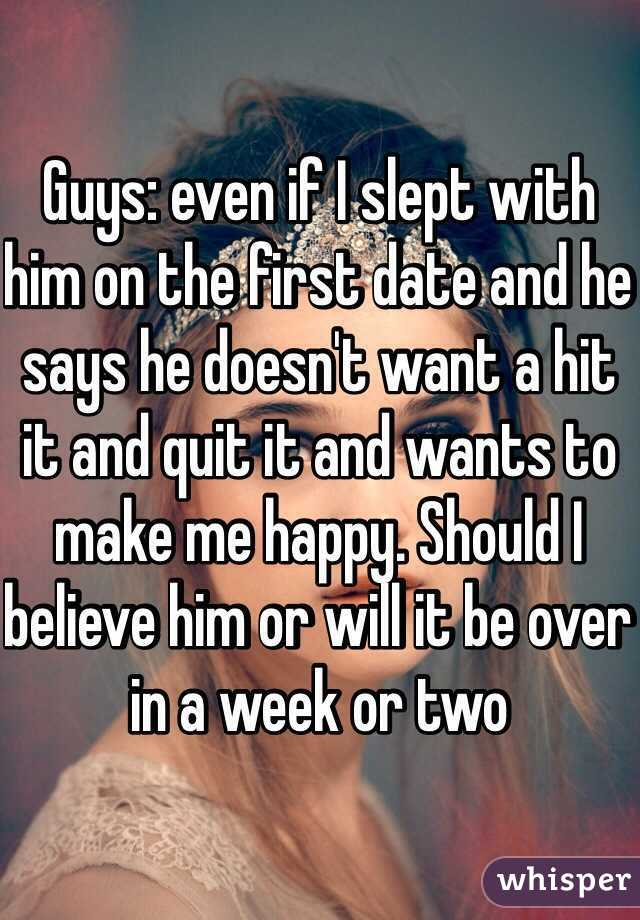 slept with him on the first date