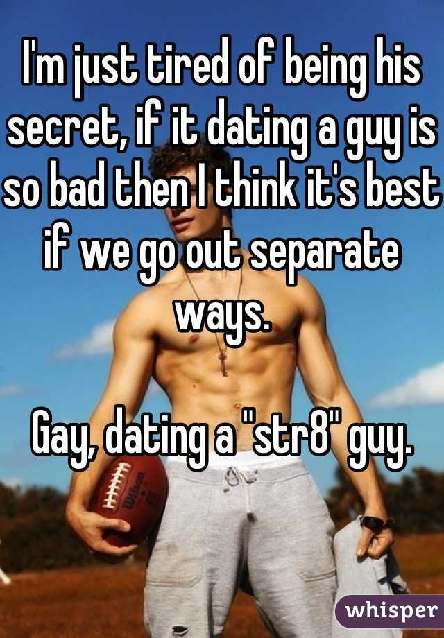 Secretly dating a guy who is separated