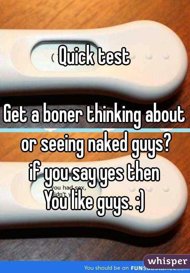Quick boner