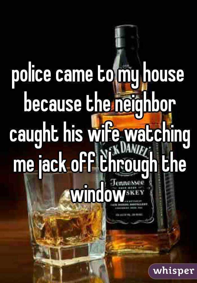 Jacks off watching his wife