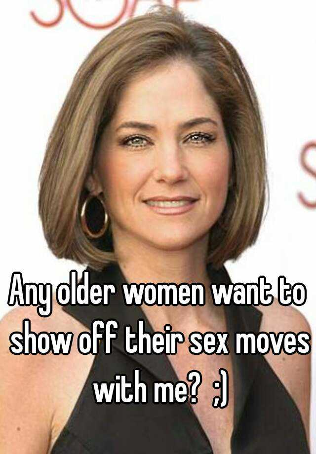 What do older women want