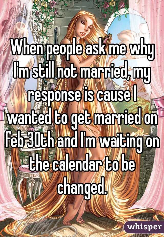 when are you getting married responses