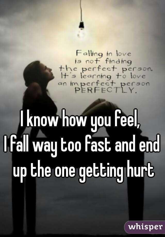 I fall in love too fast