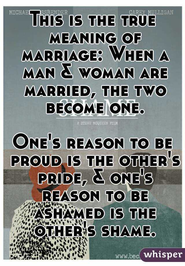 true meaning of marriage