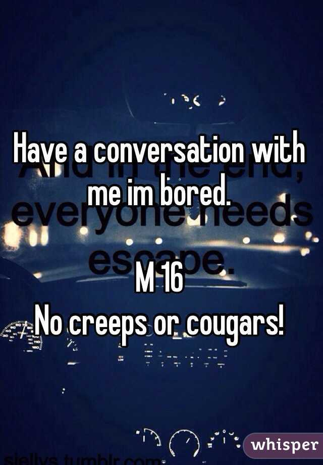 Bored cougars