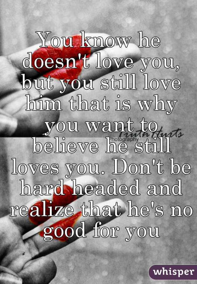 How to know that he still loves you