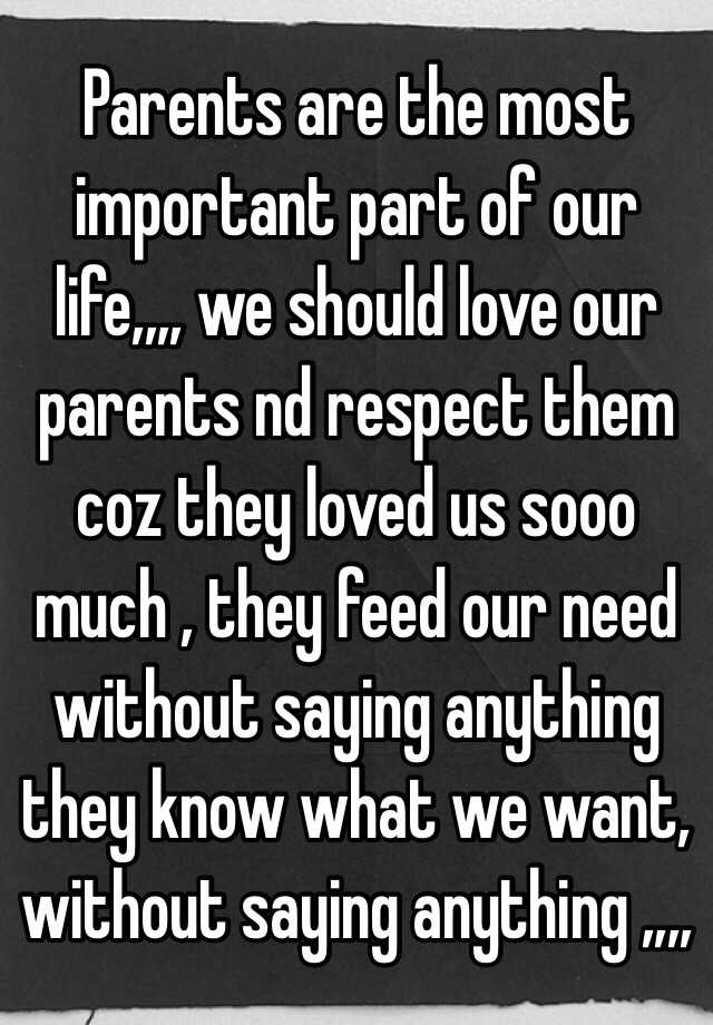 respect your parents essay in english